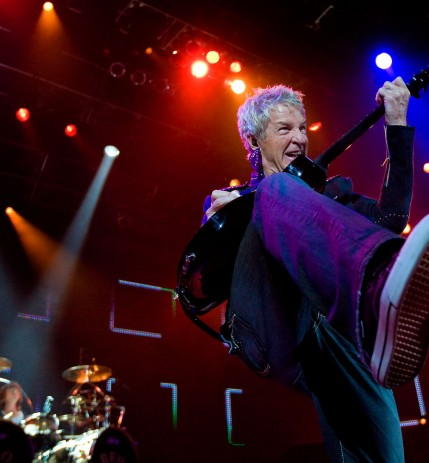 "REO Speedwagon guitarist and lead singer Kevin Cronin belts out ""Take it on the Run"" at their concert at the ShoWare Center in Kent, Wash. on Wednesday May 27, 2009. (Photo By: Scott Eklund/Red Box Pictures)"